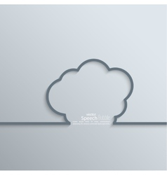 Ribbon as a cloud shadow and space for text vector