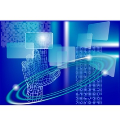 Technology abstract vector