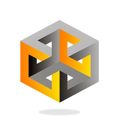 3d construction technology geometry logo vector