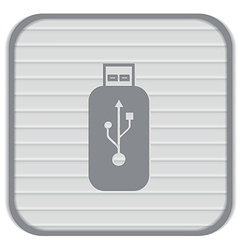 Usb flash icon disk vector