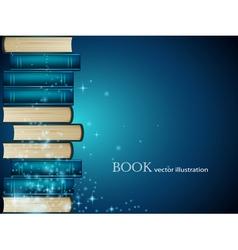 Book heap background vector