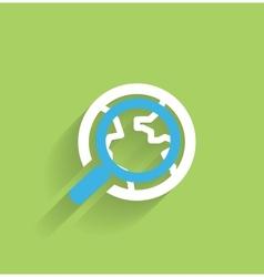 Search icon concept modern flat design vector