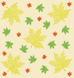 Pattern of maple leaves vector