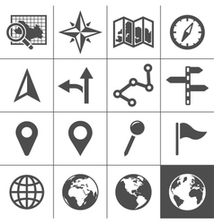 Cartography and topography icons vector