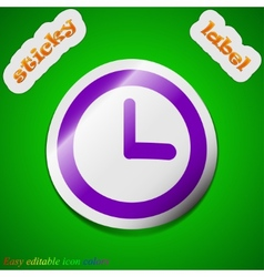 Alarm clock icon sign symbol chic colored sticky vector