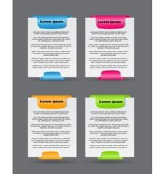 Set of trendy web banners vector