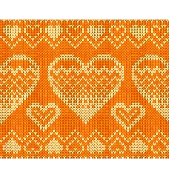 Valentines day knitted seamless pattern vector
