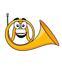 Cartoon of a french horn vector