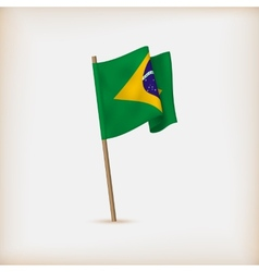 Realistic flag of brazil vector