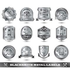 Blacksmith metal label vector