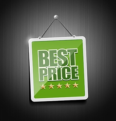 Best price signs hanging with chain vector