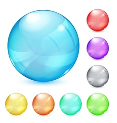 Opaque glass spheres vector
