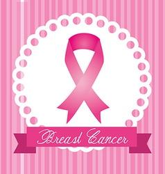 Cancer design over pink stripes background vector
