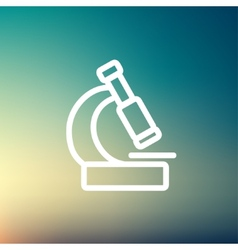 Microscope thin line icon vector