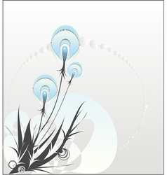 Decorative dandelion vector