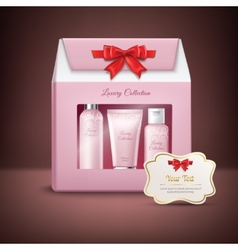 Cosmetics gift box vector