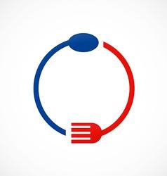 Spoon food fork restaurant abstract logo vector