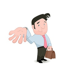 Man gesturing and placing trust vector