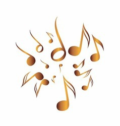 Classical music pack icon symbol golden vector