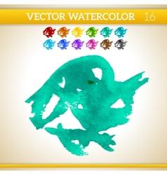 Turquoise watercolor artistic splash for design vector