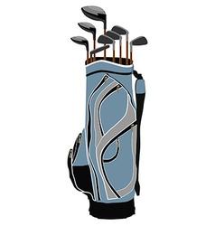 Golf clubs bag vector