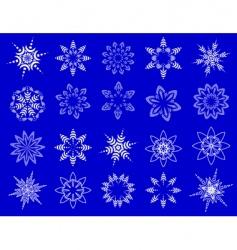 Symbolic snowflakes vector