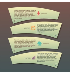 Menu template business process company report vector