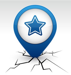 Star blue icon in crack vector