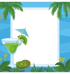 Juice kiwi fruit and exotic background vector