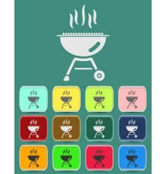 Barbecue grill icon vector