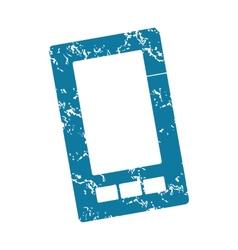Smartphone grunge icon vector