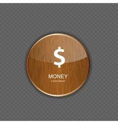 Money wood application icons vector