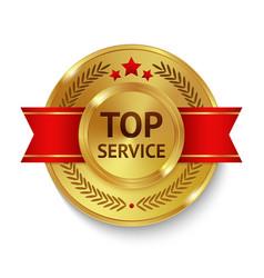 Top service badge vector