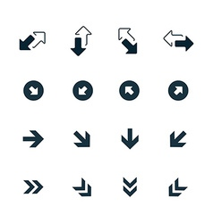 Set of arrows icons vector