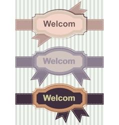 Welcom retro banners vector