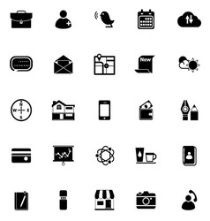 Mobile icons on white background vector