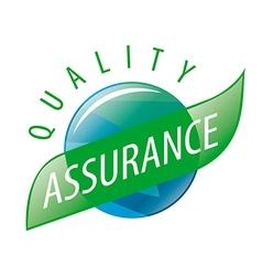Round logo quality assurance vector