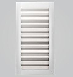 White window shutter vector