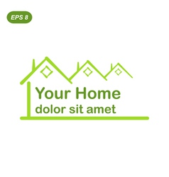 Your green home logo conception vector