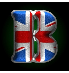 Great britain metal figure b vector
