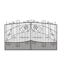 Iron gate vector