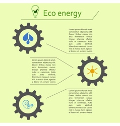 Renewable energy infographics vector