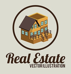 Real estate design over beige background vector