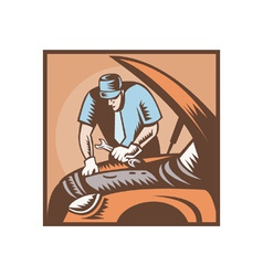 Automobile mechanic car repair vector