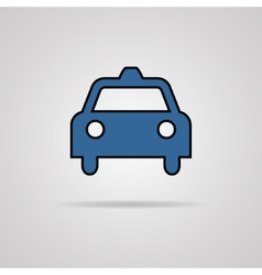 Taxi icon with shadow eps10 vector