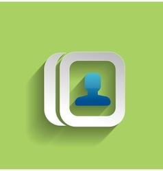 Contacts modern flat icon vector