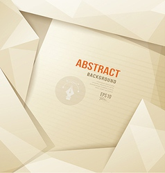 Abstract origami paper sepia geometric template vector
