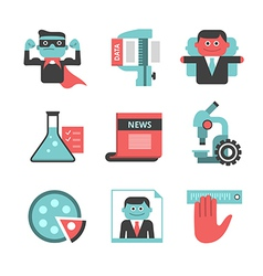 Content management flat icons set part 2 vector