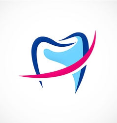 Dentist tooth medic abstract logo vector