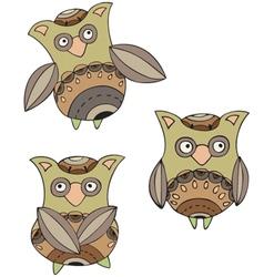 Paisley owls vector